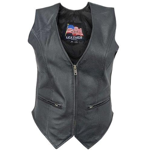 Womens B371 Biker Leather Vest