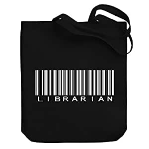 Valentine Herty Shopping bag Librarian BARCODE Canvas Tote Bag