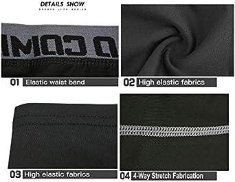 Siboya Mens Compression 3//4 Capri Shorts 2 Pack Baselayer Cool Dry Tights Running Pants