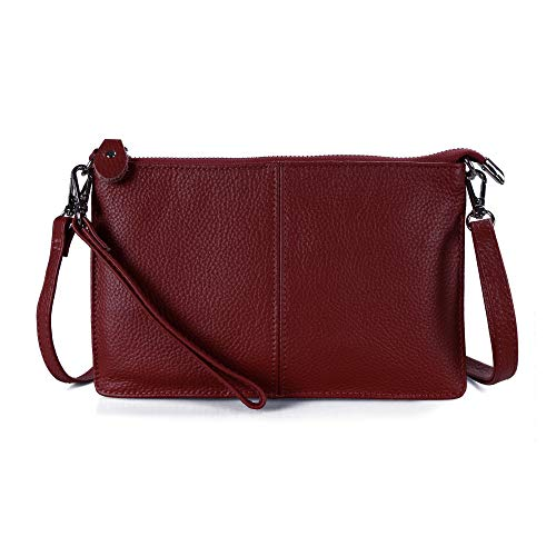 Befen Women's Smartphone Leather Wristlet Crossbody Wallet Clutch with Crossbody Strap/Wrist Strap - Fit iPhone 8 Plus - Jester - Woven Handbag Clutch