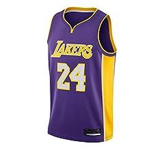 AMJUNM Camiseta de Baloncesto para Hombre, NBA Lakers 24# Kobe ...