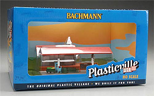 Freight Station with Platform Station Plasticville Built-Up Building HO Scale