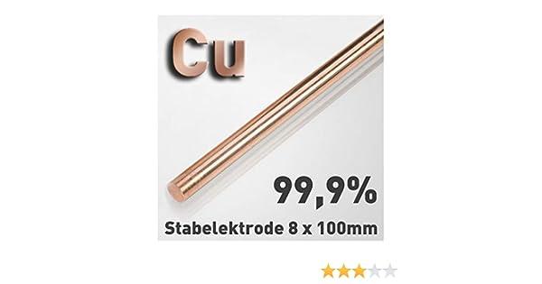 Cobre de varilla de ánodo/electrodo (8 x 100 mm) para cobre electrolitos/galvanoplástica 10 cm Cu 99,9: Amazon.es: Bricolaje y herramientas
