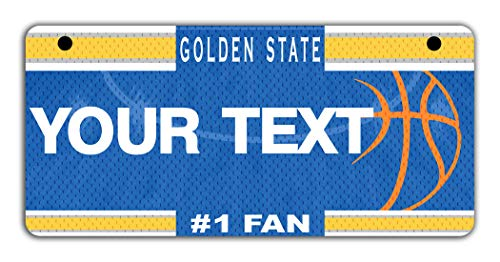 (BRGiftShop Personalize Your Own Basketball Team Golden State Motorcycle Golf Cart 4
