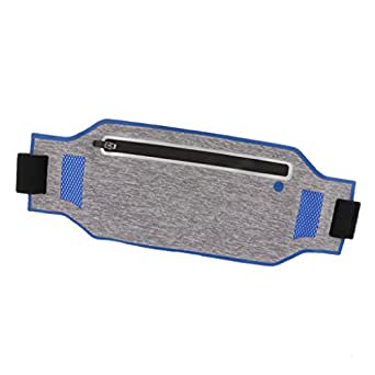 Baosity Waterproof Sport Waist Belt Bum Pouch Fanny Pack Running Walking Hiking Zip Bag - Navy Blue