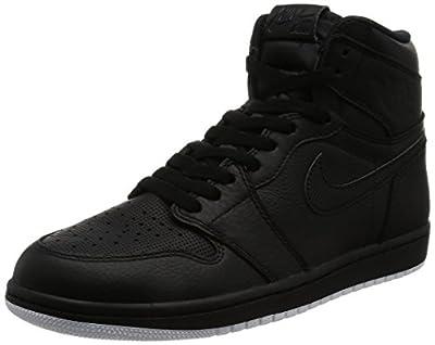 Nike Jordan Mens Air Jordan 1 Retro High OG Black/White Black Basketball Shoe 8.5 Men US