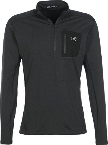 Arc'Teryx Men's Rho LT Zip Neck Shirt, Black, Medium by Arc'teryx