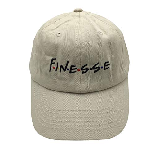 - liujiangtao Dad Hat Finesse Friends Letters Embroidered Baseball Cap Adjustable Strapback Unisex Cream