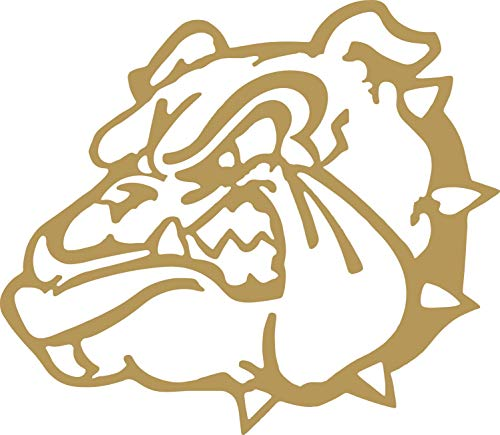 CalnylCorp Bulldog Vinyl Sticker Decal for Car Bumper Window MacBook Laptop iPhone Macbookpro (Gold, 8