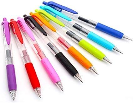 De tinta de gel retráctil – bolígrafo de bola suave y sin esfuerzo y fácil agarre, varios colores Vibrant Bold colores, pack de 8: Amazon.es: Oficina y papelería
