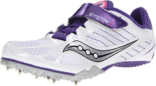 (Saucony Women's Spitfire 2 Track Shoe,White/Purple,10 M US)