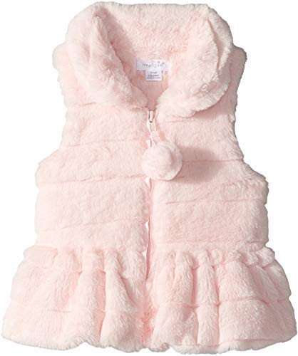 Mud Pie Baby Girl's Ruffle Fur Vest (Infant/Toddler) Pink MD (2T-3T Toddler)