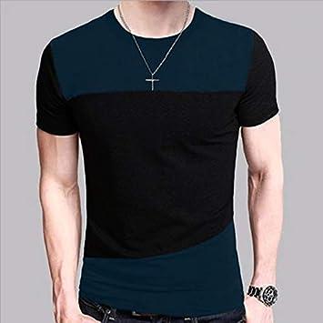 XiXi 6 diseños for Hombre Camiseta Slim Fit Camiseta de Cuello Camisa de los Hombres de Manga Corta Ocasional de la Camisa Camiseta T-Tops la Camisa Corta de tamaño M-5XL: Amazon.es: Electrónica