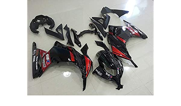 Amazon.com: Moto Onfire Red/black ABS Injection Fairings ...