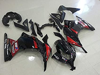 Amazon com: Moto Onfire Red/black ABS Injection Fairings Kits Fit