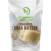 Shea Butter Raw Organic African - 16 oz Pure Virgin Unrefined for Body Butter Stretch Mark Eczma Natural Lip Balm Organic Skin Care Scar Cream and Lotion DIY Premium Nature
