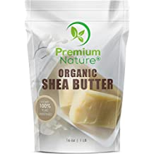 Shea Butter Raw Organic African - 16 oz bag Pure Virgin Unrefined for Body Butter Stretch Mark Eczma Natural Lip Balm Organic Skin Care Scar Cream DIY Skin Food Naturals Shae Bulk Premium Nature