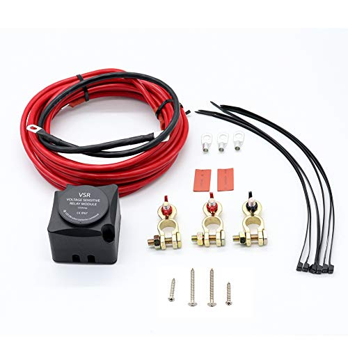 (PinShang Voltage Sensitive Relay (VSR), Dual Battery Isolator Kit AP4108 VSR with Cable Kit for 2nd Battery)