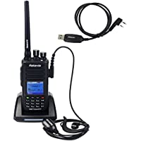 Retevis RT8 IP67 Waterproof DMR Digital/Analog Two Way Radio GPS 5W UHF 400--480Mhz 1000 Channel Earpiece and Programming Cable (1 Pack)