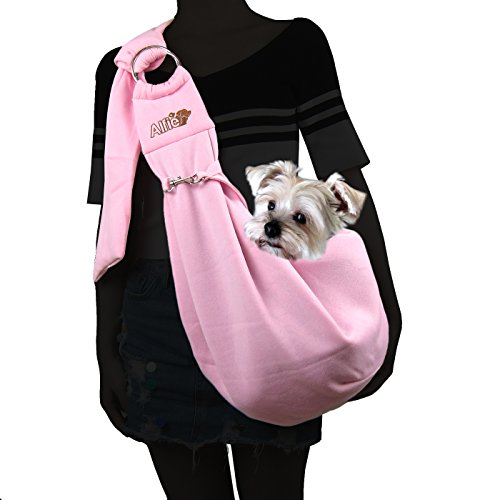 Alfie Pet by Petoga Couture - Chico 2.0 Revisible Pet Sling Carrier with Adjustable Strap - Color Pink