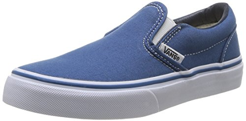 Vans Kids Classic Slip-On Navy/True White Skate Shoe 13.5 Kids US]()