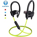 Wireless Bluetooth Earbuds Headphones Waterproof in Ear Flexible Earphone with EarPlug Noise Cancelling Sport Headsets Compatible with iPhone iPad Android Smart Bluetooth Device - Yellow