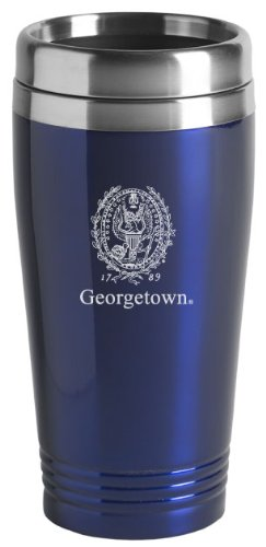 Georgetown University - 16-ounce Travel Mug Tumbler - Blue