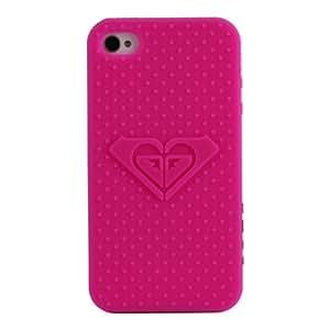 Coque iPhone 4/4S, Roxy rose en silicone