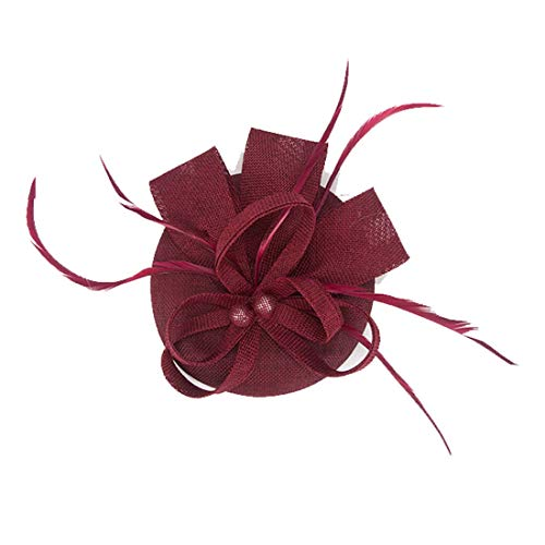 Fascinator Feather Fascinators for Women Pillbox Hat for Wedding Party Derby Royal ()