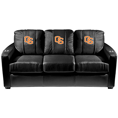 XZipit College Silver Sofa with Oregon State Primary Logo Panel, Black