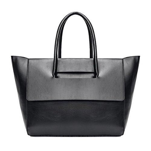 Casuale ROIBL181269 Moda Odomolor tracolla Nero a Style Tote Borse Borse Donna Tessuto Nero di UEPqB