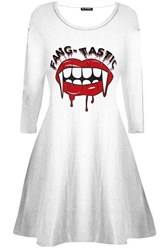 Oops Outlet Damen Halloween Fangtastic bedruckt blutig Vampir Mund ...