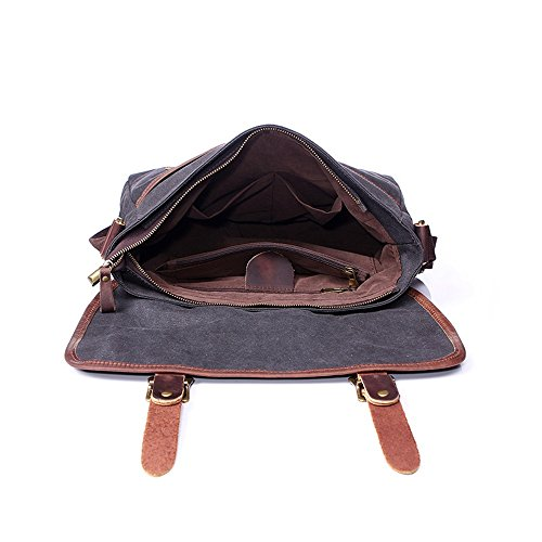 Canvas Simple Zipper Messenger Comfortable Computer Gray Shopping Computer Retro Bag Bag Bag 0rxq048