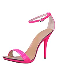 Women's Classic Dancing Stiletto High Heel Open Toe Ankle Strap Sandals