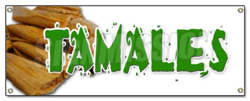 TAMALES BANNER SIGN mexican dough corn latin comfort food meat cheese pastry (Cheese Vision)