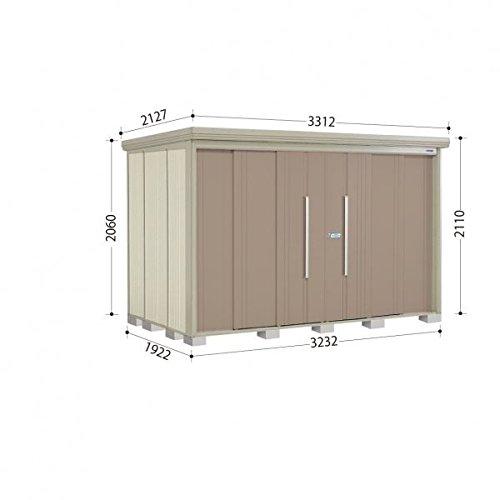タクボ物置 ND/ストックマン 側面棚 ND-S3219Y 多雪型 標準屋根 『屋外用中型大型物置』 カーボンブラウン B018CABMMO