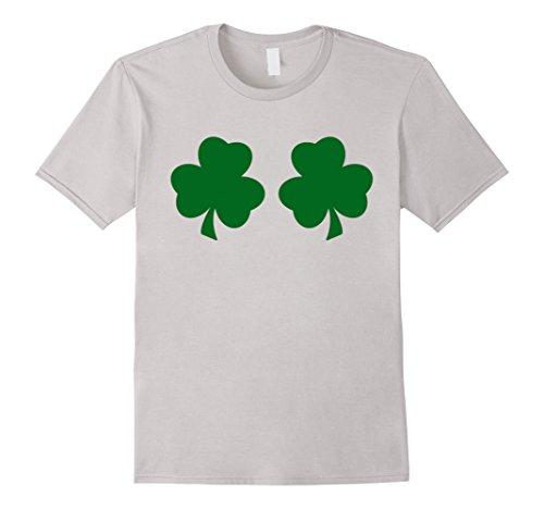 Irish Shamrock Boobs Funny St. Paddys Day T-shirt