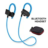 BUDGET & GOOD Bluetooth Earphones, Super Lightweight High Sound Quality Sports Headphones Compatible with All Bluetooth Enabled Devices(Blue)