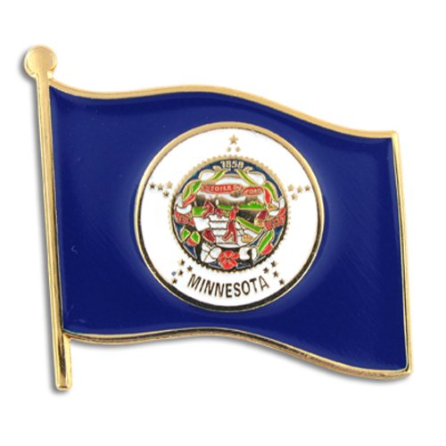 PinMart Minnesota US State Flag MN Enamel Lapel Pin 1