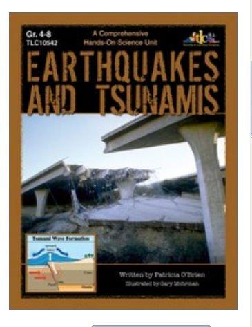 Lorenz Corporation TLC10542 Earthquakes and Tsunamis- Grade 4-8