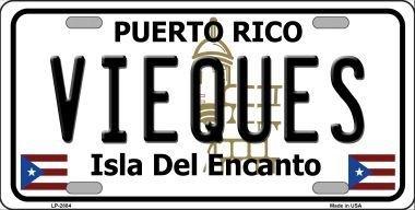Smart Blonde LP-2884 Vieques Puerto Rico Metal Novelty License Plate SmartBlonde