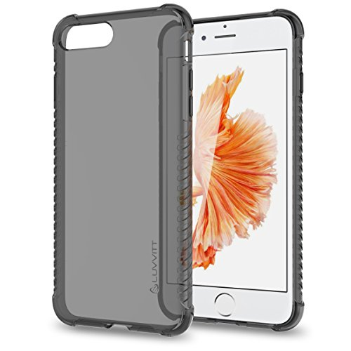 Luvvitt Clear Grip iPhone 7 Plus / iPhone 8 Plus Case with Air Pocket Reinforced Corners for Apple iPhone 7 Plus (2016) and iPhone 8 Plus (2017) - Transparent - Transparent Black