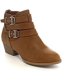Women's Side Zip High Block Heel Ankle Booties
