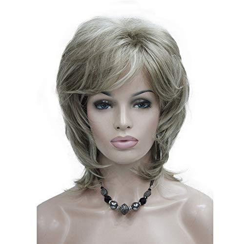 Aimole Soft Shaggy Layered Medium Length Classic Cap Synthetic Women Wigs H16D613