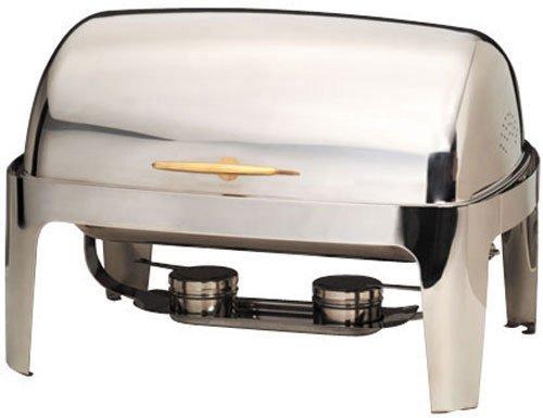 - American Metalcraft (GOLDAGRT26) 9 qt Stainless Steel Rectangular Adagio Chafer