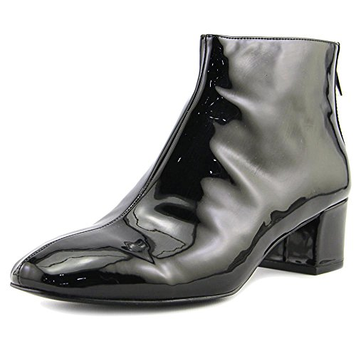 Nine West Womens Anna Ankle Bootie Black 2 Synthetic