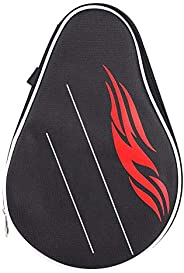 Table Tennis Racket Case, Table Tennis Racket Case Paddle Cover Ping Pong Paddle Bat Bag with Balls Pouch