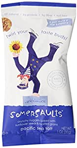Somersaults Single Serve Pacific Sea Salt, 6-Count Packages (Pack of 6)
