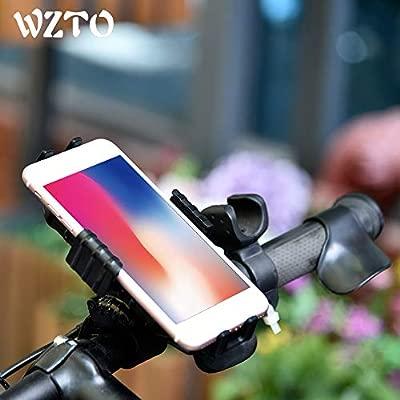WZTO Soporte Movil Bicicleta, Universal Soporte de Celular para Bicicleta, Motocicleta y Carreola, Rotación de 360°, Sostenible, Soporte para iPhone ...