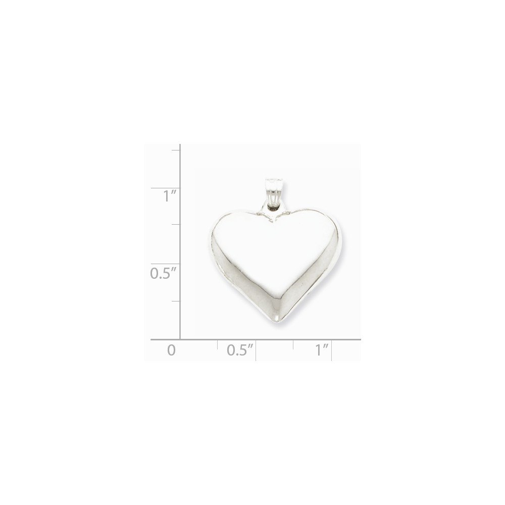 Sonia Jewels Sterling Silver Polished Puffed Heart Pendant 23mm x 21mm